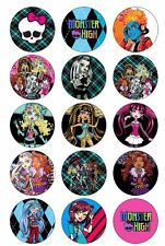 Monster High Emo BADGE Party Favor Lolly Bag Loot Birthday Card Skull Punk Goth
