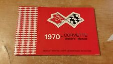 1970 CHEVY CORVETTE OWNERS MANUAL GLOVE BOX BOOK