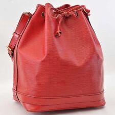 Authentic  Louis Vuitton Epi Noe Red Shoulder Bag M44007 #S2414