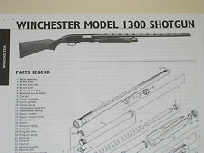 WINCHESTER MODEL 1300 SHOTGUN EXPLODED VIEW