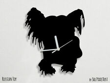 Russian Toy Dog Silhouette - Wall Clock