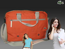 LACOSTE Business Style Laptop Briefcase Bag New Casual 1 Orange