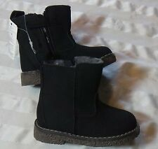 Gap Sherpa boys  Boots Chelsea BLACK Toddler  NWT size 7
