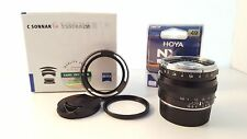 Zeiss C Sonnar T 50mm f/1.5 ZM Leica M Mount - Black MINT w Hoya UV Filter, Hood