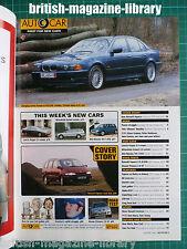 Autocar 9/4/1997 - Alpina BMW E39 M5 Feature across Europe - Road Test: Espace