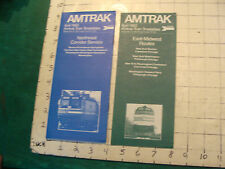 2 ---april 1983 amtrak timetables: Northeast corridor & east-midwest CLEAN