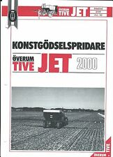 Farm Equipment Brochure - Overum - Tive Jet 2000 Sprayer SWEDISH (F4886)