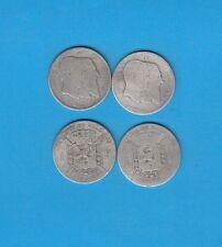 Belgique  Léopold I Léopold II Rois lot de 2 x  1 Franc en argent 1830-1880