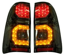 TOYOTA HILUX VIGO SR5 MK6 05-14 CHAMP MK7 REAR BLACK SMOKE LED TAIL LIGHT LAMP