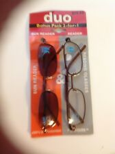 ZOOM EYEWORKS INC DUAL PACK ( 2 READING GLASSES ) DAYTIME -  NIGH TIME # 3.00