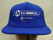 RS HUGHES - GE SILICONES - POLY FOAM TRUCKER STYLE SNAPBACK BALL CAP HAT!
