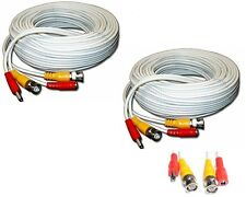 2 Unit of 150 Feet WHITE BNC Video DC Power Siamese Cables for CCTV Surveillance