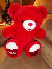 Bear Red teddy soft stuffed plush velvet heart shaped nose Valentine Dan Dee