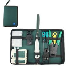 RJ45 RJ11 CAT5 Tester Tool Kit Internet Tools Network Cable Tester Wire Crimp