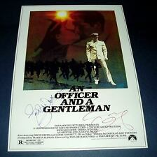 AN OFFICER AND A GENTLEMAN CASTX3 PP SIGNED POSTER 12X8