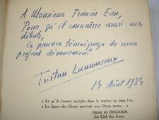 LA FLÛTE ET LE FLAMBEAU  Poèmes  Jacques Mareuse  avec envoi de l'auteur  !