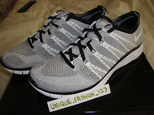 NIKE FREE FLYKNIT HTM SP Carbone Bianco Grigio NEVE US 11 UK 10 45 Mix 2013 Chukka