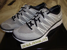 Nike Free Flyknit HTM Sp Carbón En Gris Blanco Nieve Us 11 Uk 10 45 Mix 2013 Chukka
