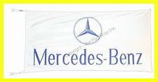 MERCEDES BENZ FLAG BANNER  WHITE c-class s-class clk slk 5 X 2.45 FT 150 X 75 CM