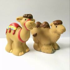 2x Baby Doll Fisher-Price Little People Zoo Park Animal Camel figure Boy Kid Toy