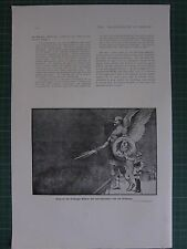 1917 WWI WW1 PRINT ~ ENTRY OF THE ARCHANHEL MICHAEL ~ REICHSTAG CARICATURE