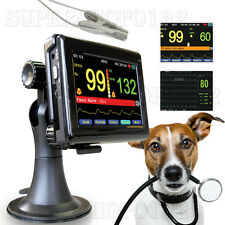 Vet pulse oximeter,patient monitor+vet Spo2 PR probe,veterinary,animal Handheld