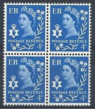 Northern Ireland 1967 Sc# 2 Queen Elizabeth 4p Great Britain GB block 4 MNH