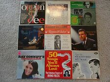 Lot Records x9 Ray Conniff Roger Williams Herb Alpert Tennessee Ernie Ford