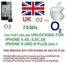 O2 UK Network factory Unlocking for IPHONE 3,4,4/s,5/5c/5s, 6/6+ unlock code