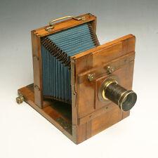 ♦ Splendida fotocamera/banco ottico in LEGNO 13x18 - 1890/1910