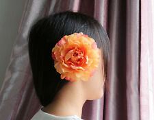 12cm NEW Romantic Silk Hair Accessory Flower Hairpin Hair Clip For Prom yellow