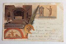 CPA. Souvenir des Catacombes de St CALLISTE. ROMA. 1903. Lions.