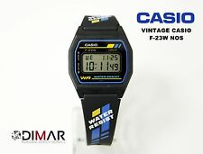 NEW VINTAGE CASIO COLLECTION F-23W NOS DIAL BLUE