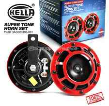 NEW Hella Twin Supertone Horn Kit 003399801 RED GENUINE USA FAST SHIPPING