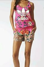 NWT Adidas Originals JARDINETO JUMPSUIT Dress shirt-pant AOP Print Womens sz S
