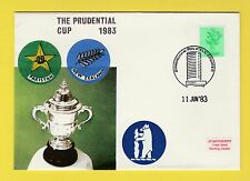 CRICKET - STAMP COVER - PRUDENTIAL CUP -  PAKISTAN  V  NEW  ZEALAND  -  1983