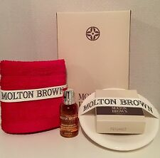MOLTON BROWN GINGERLILY , MILK SOAP & SOAP DISH & FACE CLOTH GIFTSET  (BB7.2M8)