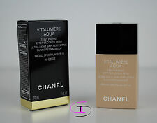 NIB CHANEL VITALUMIERE AQUA ULTRA-LIGHT SKIN PERFECTING SUNS MAKEUP 30BEIGE CH04