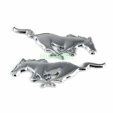 1 Pair Metal Emblem Car Fender Badge Sticker For Ford Mustang Pony Running Horse