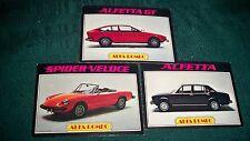 1977 ALFA ROMEO SPIDER VELOCE ALFETTA GT  autos of  '77 cards