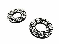 Black Skull Donuts Thumb Blister Protection Fits YZ125 E,F 78-79