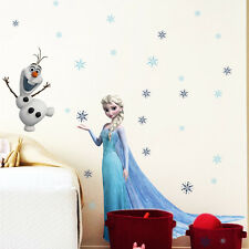 Disney Frozen Girls Wall Mural Picture Kids Bedroom Wallpaper Elsa Anna