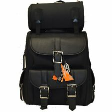 MOTORCYCLE LARGE TWO PIECE SISSY TRAVEL BAR TOURING BAG LUGGAGE PVC GREATQUALITY