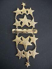 Vintage Signed ULTRA CRAFT Massive Shoulder Pin STARS Gold Tone Metal