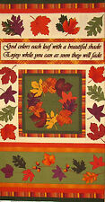 Autumn Fabric - Leaves God Creation Rustling Leaves Fall Benartex #2830 - PANEL