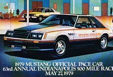 1979 Ford Mustang Official Pace Car Indy 500 Original un-used postcard