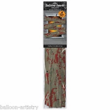 4 Halloween Zombie Cemetery Blood Splatter Wood Boards Planks Window Decorations