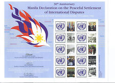 United Nations UN Manila Declaration 2012 Personalized Sheet Stamps