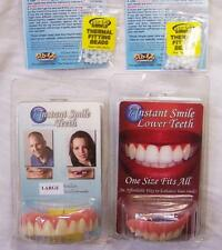 COMBO SET VENEERS BOTTOM AND LARGE TOP INSTANT SMILE TEETH 2 PACK EXTRA BEADS
