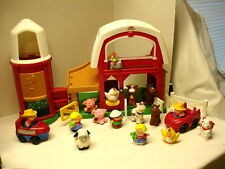 Fisher Price Little People Animal Sounds BARN with Farm Animals 19 pcs Barnyard